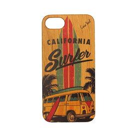 Case Yard 【 ウッド iPhoneケース / Surfer サーファー / iPhone7 iPhone7plus / チェリーウッド 】