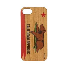 Case Yard【 ウッド iPhoneケース / California Republic カリフォルニア リパブリック / iPhone7 iPhone7plus / チェリーウッド 】
