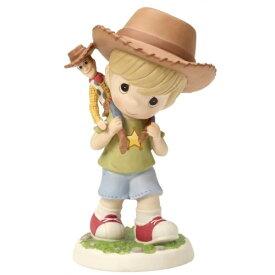 "Precious Moments【 ディズニー ピクサー Disney Pixar / トイストーリー ウッディ / フィギュア 置物 ビスクドール 陶器人形 / ""Boy Carrying 'Toy Story' Woody Doll""】"