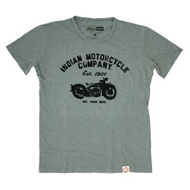 INDIAN MOTORCYCLE ユニセックス Tシャツ【インディアン モーターサイクル / ジャージー Tシャツ IMC15 / ライトグレー 】