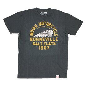 INDIAN MOTORCYCLE ユニセックス Tシャツ【インディアン モーターサイクル / ジャージー Tシャツ IMC2 / ヴィンテージ ブラック 】