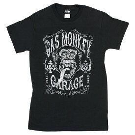 """大人気!! ユニセックス Tシャツ 【ガス・モンキー・ガレージ / """"Vintage Monkey"""" GMON0381 / ブラック 】"""