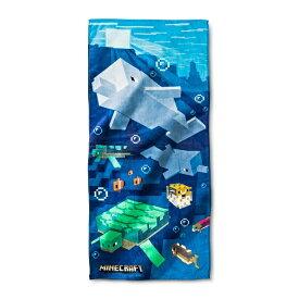 Minecraft Beach Towel 【 ビーチタオル / マインクラフト / ブルー × マルチカラー 】