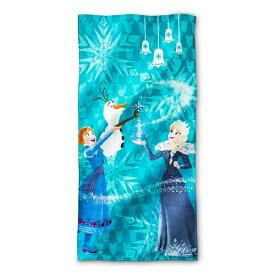 Disney Frozen【 ビーチタオル / ディズニー アナと雪の女王 フローズン スノーウィー ヒル / ライトブルー × マルチカラー 】