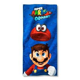 Super Mario Beach Towel 【ビーチタオル / スーパーマリオ 任天堂 ニコロデオン / ブルー × レッド × マルチカラー 】