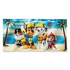 PAW Patrol Beach Towel 【ビーチタオル / パウ・パトロール ニコロデオン / ブルー × イエロー × マルチカラー 】