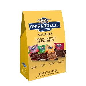 Ghirardelli ギラデリ プレミアム チョコレート アソート スクエア ダーク&ミルク 15.77oz 約448g