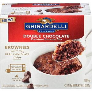 ☆2箱セット☆ Ghirardelli【 ギラデリ / ブラウニー カップ ダブルチョコレート / 4袋入り】