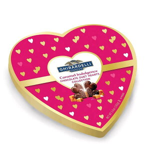 ☆ハート型箱入り☆ ギラデリ バレンタイン 限定 キャラメル インダルジェンス チョコレート デュエット ハート コレクション 5.6oz(160g) Ghirardelli
