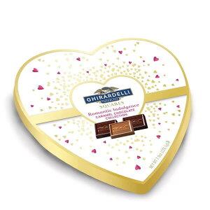 ☆ハート型箱入り☆ ギラデリ バレンタイン 限定 クエアズ ロマンティック インダルジェンス キャラメル チョコレート コレクション 7.9oz(226.5g) Ghirardelli