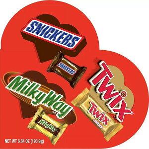バレンタイン 限定 ハート型 ボックス入り スニッカーズ トウィックス ミルキーウェイ 6.84oz(193.9g)