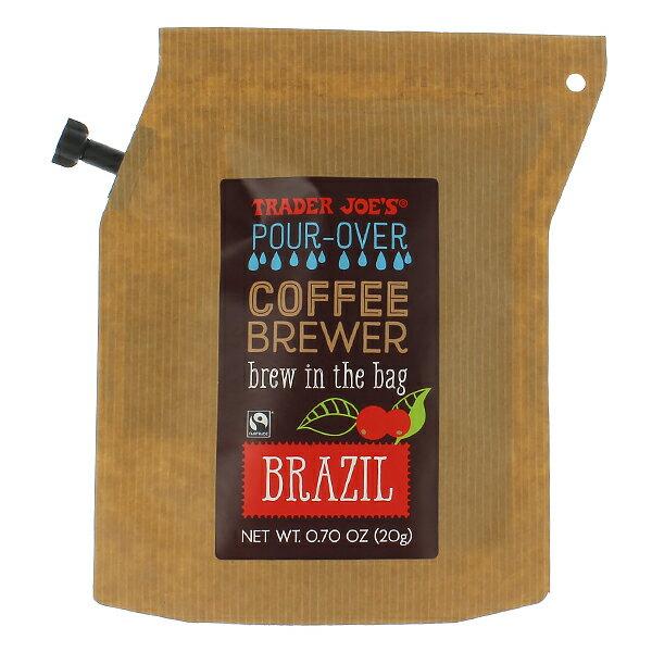 Trader Joe's 【トレーダージョーズ コーヒー ブリューワー バッグ ブラジルコーヒー 20g (0.7 oz)】