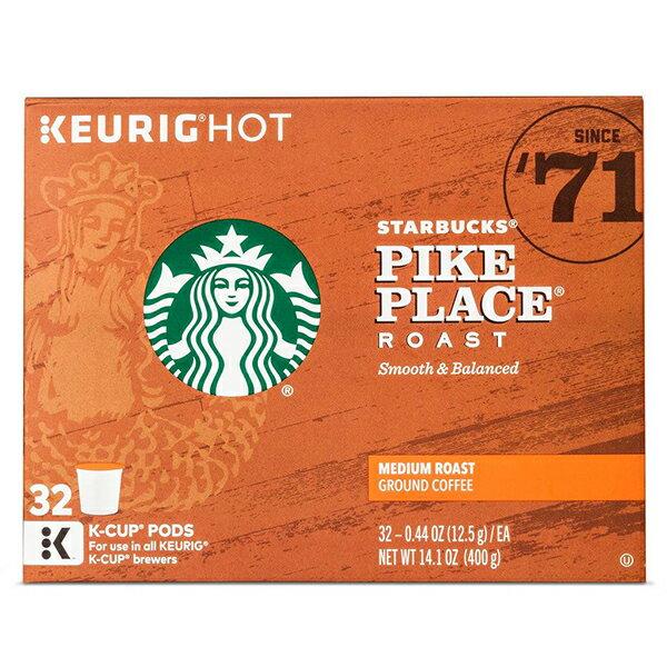KEURIG 【キューリグ K-Cup / スターバックス パイクプレイス ミディアムロースト コーヒー / 32個入り / 400g (14.1 oz)】