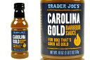 TRADER JOE'S【トレーダージョーズ カロライナ・ゴールド バーベキューソース 510g(18oz)】CAROLINA GOLD BARBEQUE SAUCE FOR BBQ THAT'S GOOD AS GOLD