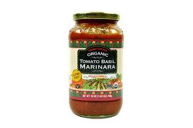 TRADER JOE'S【トレーダージョーズ 低脂肪 オーガニック トマト バジル マリナーラ ソース 25 oz (709g)】Organic Tomato Basil Marinara Low Fat 25oz (709g)