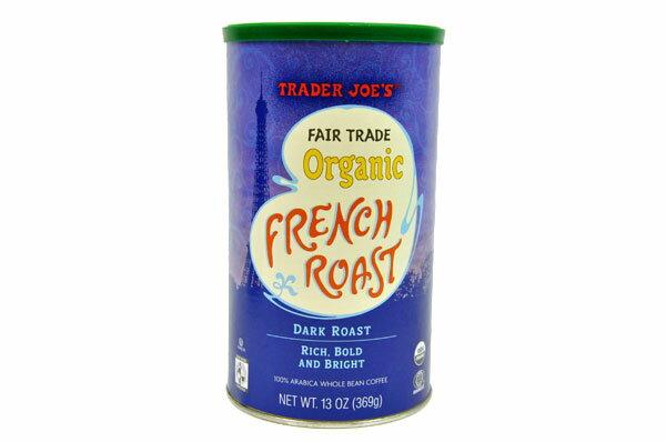 Trader Joe's【トレーダージョーズ オーガニック フレンチ ロースト ダーク ロースト コーヒー豆 13 oz (369g)】Organic French Roast Dark Roast