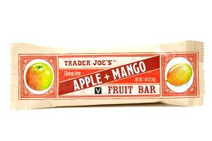 Trader Joe's【トレーダージョーズ フルーツバー アップル+マンゴー 30g(1.06oz)】FRUIT BAR APPLE+MANGO