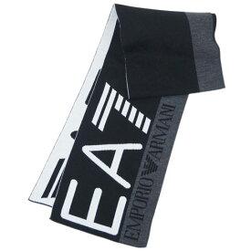 アルマーニ マフラー 275561 メンズ EA7 エンポリオ アルマーニ スカーフ EA7ロゴ ブラック/ホワイト/杢グレー 30111 あす楽対応