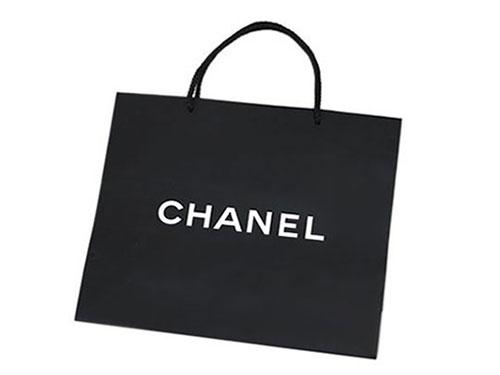 【ポイント6倍以上!】シャネル CHANEL 紙袋 ペーパーバッグ ミディアムサイズ 36x32 ブラック 手提げ袋 楽天カード分割