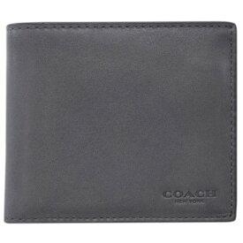 【新品】 コーチ 財布 20956-GPH メンズ 二つ折り 札入れ 取り外しカードケース 3-IN-1 ウォレット グラファイト アウトレット わけありセール
