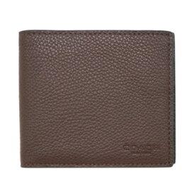 【新品】 コーチ 財布 22815-C1L メンズ 二つ折り 札入れ 取り外しカードケース 3-IN-1 ウォレット オックスブラッド/ブラック アウトレット