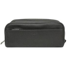 【新品】 コーチ ポーチ F73090-QB/BK メンズ セカンドバッグ トラベル ドップ キット レザー ブラック アウトレット