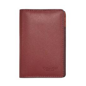【新品】 コーチ カードケース F79802-QBPL6 メンズ 名刺入れ カードウォレット カラーブロック ソフトレッド/ホットレッドマルチ アウトレット