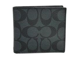 87dde29f26e2 コーチ 財布 F75006-CQ/BK メンズ 二つ折り 小銭入れ付き コイン シグネチャー PVC