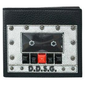 ポイント5倍以上! ドルチェ&ガッバーナ 財布 BP1321 DOLCE&GABBANA メンズ 二つ折り 札入れ D.D.S.G. スタッズ 型押しカーフ ブラック アウトレット