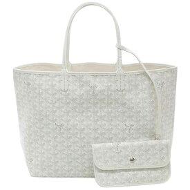 ゴヤール バッグ 定番 GOYARD サンルイPM トートバッグ ホワイト 紙袋付き あす楽対応