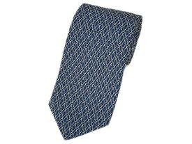 グッチ ネクタイ 320345-4279 GUCCI メンズ ジャガード デザイン シルク100% ブルー/ベージュ キャッシュレスで5%還元!