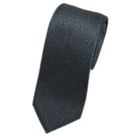 グッチ ネクタイ 408865-1263 GUCCI メンズ ジャガード デザイン GGパターン+ドット シルク100% スチールグレー/トープ/ホワイト DEIENE アウトレット キャッシュレスで5%還元!