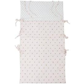 エルメス ベビー H102177M01 HERMES シュラフ おくるみ ソルド アニモー・ドゥ・ラ・フォレ コットン ローズパール/ピンク 寝袋