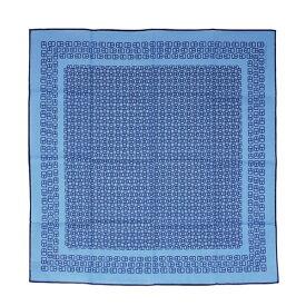 【ポイント7倍以上!】エルメス ハンカチ H152064GG7 HERMES ソルド コットン100% BOUCLES D'ATTELAGE ブルー/ネイビー あす楽対応 キャッシュレスで5%還元!【期間:12/14 9:59まで】