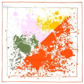 【お得クーポン♪】エルメス ハンカチ H171005G16 HERMES ソルド コットン100% CHEVAL SURPRISE COLORIAGE オレンジ ローズ/ホワイト あす楽対応 キャッシュレスで5%還元!【2020/1/31 23:59迄】