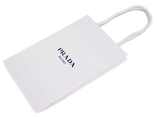 プラダ PRADA 紙袋 ペーパーバッグ スモールサイズ 25x16 手提げ袋 紙袋のみのご注文は不可