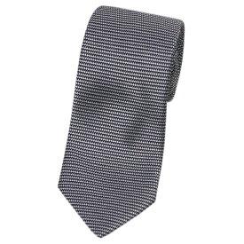 ランバン LANVIN メンズ ネクタイ ジャガード デザイン シルク100% ブラック/グレー 31403 あす楽対応