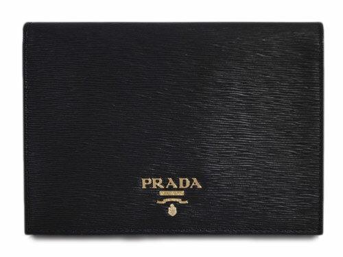 プラダ パスポートカバー 1MV412 PRADA カードケース GLロゴ ヴィテッロ ムーブ NERO ネロ カーフブラック アウトレット