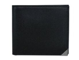 プラダ 財布 2MO513 PRADA メンズ 二つ折り 札入れ ヴィテッロ ボックス NERO ネロ カーフブラック シルバー金具 アウトレット