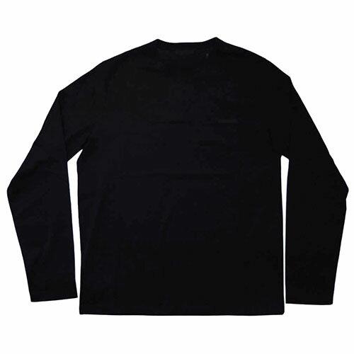 プラダ Tシャツ UJL879 PRADA メンズ 長袖 丸首 プリント コットン100% NERO ネロ ブラック Lサイズ アウトレット
