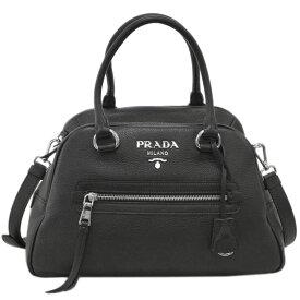 プラダ バッグ 1BB054 PRADA 2WAY ハンドバッグ ストラップ付き VITELLO PHENIX NERO ネロ カーフブラック シルバー金具 アウトレット あす楽対応