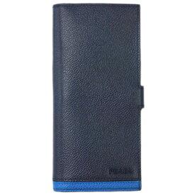 プラダ 財布 2MV015 PRADA メンズ 長財布 札入れ マチ付き 小銭入れなし VIT.MICRO GRAIN BALTICO+MAREA カーフネイビー+ブルー アウトレット あす楽対応
