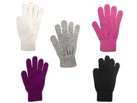 【送料無料 メール便・郵便】レディース五本指手袋 NO.MST1315 寒さ対策 防寒グッズ グローブ ニット手袋 手袋