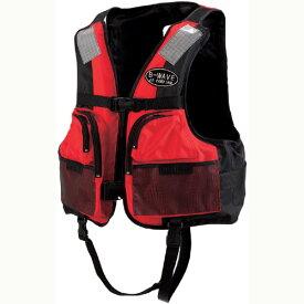 釣り用ライフジャケット BW-2003 認定品(桜マーク)レッド