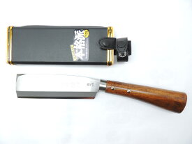 日本製 鍛冶助 左用鞘鉈 手打ち鋼付 片刃 165ミリ 左利き用 JAN 4573306187165