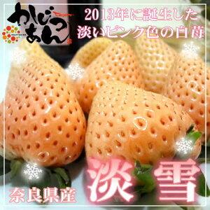 奈良県産 白いいちご 淡雪 30粒入り 2013年に品種登録された白いイチゴ 佐賀ほのか が突然変異して生まれた苺の新品種 爽やかな甘さと食味の良さは さがほのか ゆずり お歳暮ギ