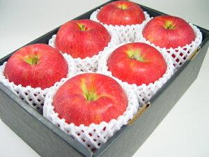 長野県産・特選りんご  シナノスイート (化粧箱6個入り) 「ふじ」と「つがる」を親に持つリンゴのエリート 送予定:10月上旬〜