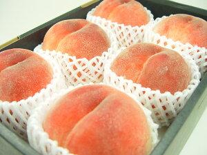 山梨県産 浅間白桃 特大玉6個(化粧箱入り) 最も暑い時期に出荷される白桃!甘くて果汁タップリのジューシーさから「桃の王様」とよばれる山梨で生まれた白桃の名品! お中元ギフト