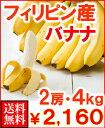 フィリピン産バナナ2房4kg送料無料\2,450