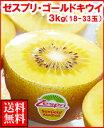 ゼスプリゴールドキウイ3kg箱(18玉〜33玉)